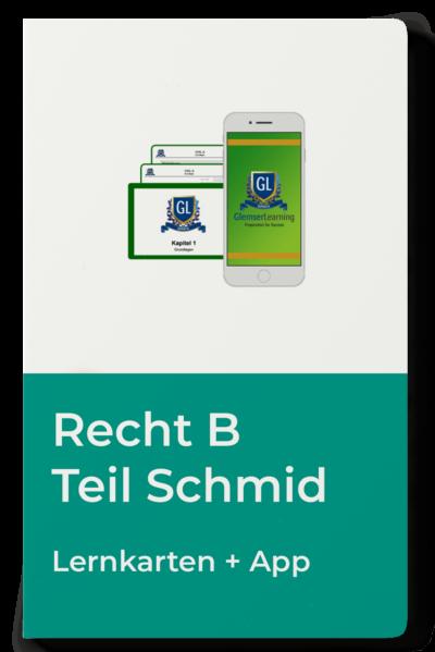 Lernkarten Recht B Teil Schmid